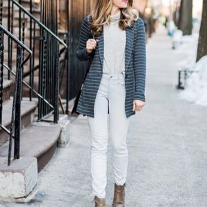 Anthro Dolan Left Coast Striped Knit Blazer
